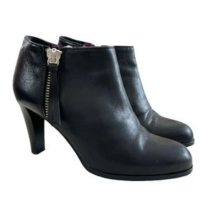 Coach Joice Leather Double Side Zip Booties